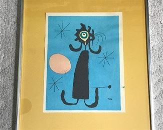 "Miro ""Woman in Front of the Sun"" Print https://ctbids.com/#!/description/share/155545"