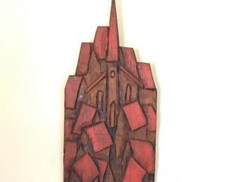 007A Gaugy Church and Houses Wood Carving https://ctbids.com/#!/description/share/159934