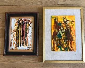(2) Mid century Abstract originals https://ctbids.com/#!/description/share/159935