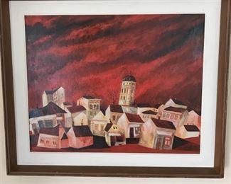 Oil Painting of Belgrade Neighborhood https://ctbids.com/#!/description/share/159936