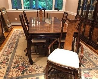 Dining Room Table w/ 1 Leave & 6 Chairs