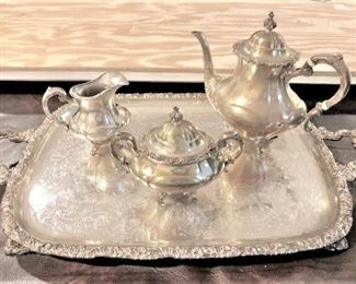 Georgian Rose Sterling Tea Set