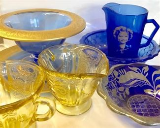 Depression Glass incl. Shirley Temple