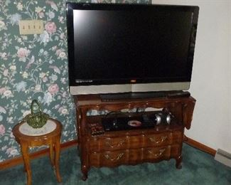 large TV / on a server with drop sides