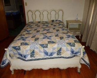 white bedroom / bedding sold separately
