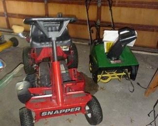 snapper  rider / large snow blower