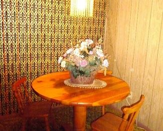 small wood dinette