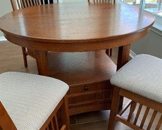 Mission style Pub Table and Chairs