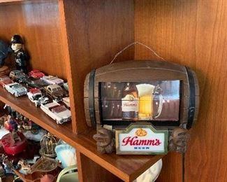 Hamms Beer lighted flip sign