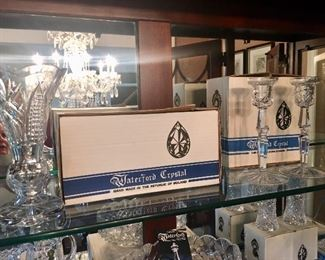 large selection of Waterford crystal