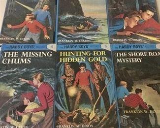 Set of Hardy Boy books