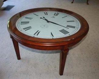 "Unique ""clock"" coffee table"