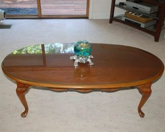 """Oval Collectors Cher Cocktail Table,  52"""" L x 26"""" W"""