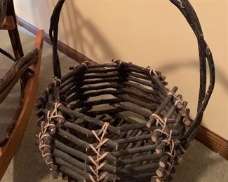 Antique Adirondack twig basket