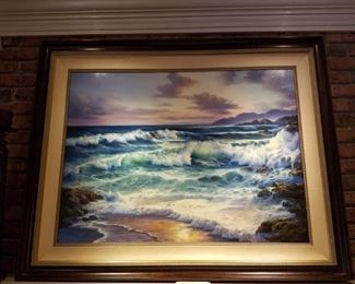 """Artist Judy Dy'ans """"Pacific Surf"""" Giclee"""
