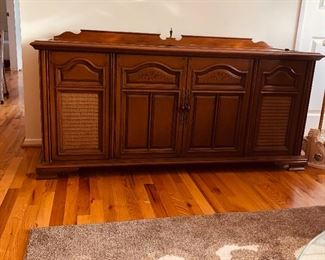 Stereo Cabinet gutted and professionally lined to convert into a storage/hope chest