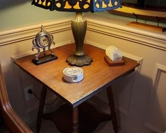 ANTIQUE LAMP SIGNED MILLER