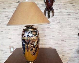CLOISONNE OIL LAMP