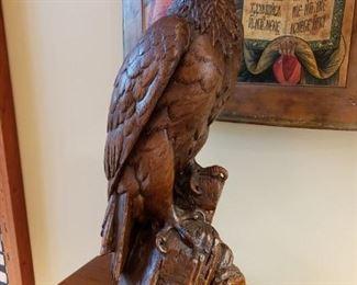 AMAZING CARVED EAGLE
