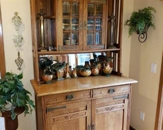 ANTIQUE ARTS AND CRAFTS HUTCH