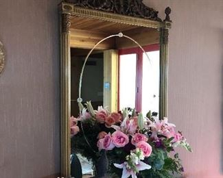 Gorgeous antique mirror that once hung in Jimmy Stewart's Beverly Hills home.