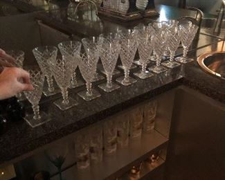 Stunning Hawkes crystal glasses