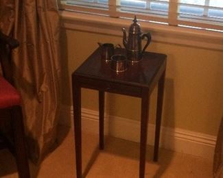 Small side table Turkish tea set