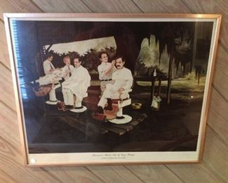 George Rodrigue Brousards barber shop. Signed and numbered