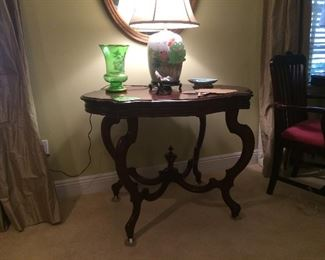 Turtle topped parlor table
