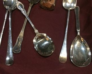 Silver-plate  spoons