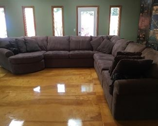 Super Almost New 5-Piece Sectional with 2 Beds!