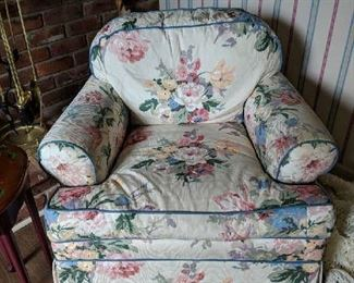 $60  Floral comfy chair