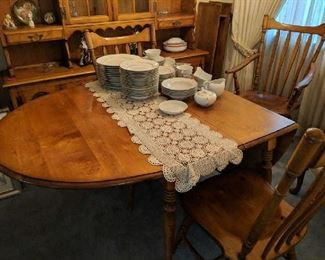 $160  Maple table & chairs