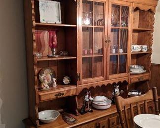 $125   Maple china cabinet