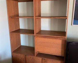 Oak Shelving unit.   1 of 2 sides