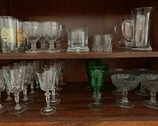 Assortment of various sets of crystal for any occasion