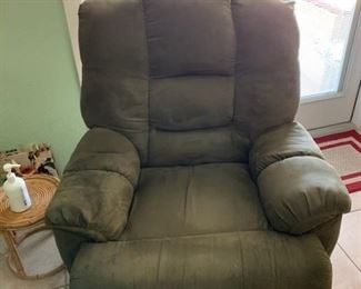 Microfiber Recliner with power motion  Suggested $50