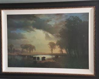 large framed artograph