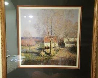 Country scene framed art print