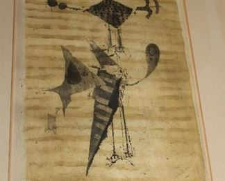ANTIQUE SIGNED INK DRAWING