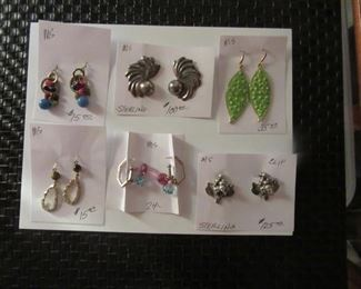 Sterling and metal earrings.
