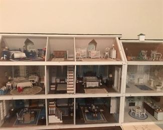 Fantastic doll house with wonderful miniatures and hand-made pieces
