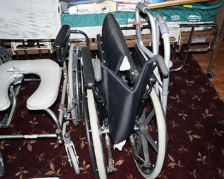 Wheelchair and roll in shower chair