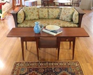 Another beautiful setting  with antique Oriental rug, Baker Milling Road coffee table and  Stickley sofa.