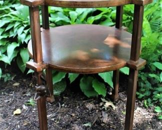 Custom made table with frog detail.