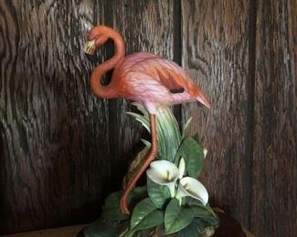 Flamingo statue by Sadek