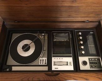 RCA record player radio console