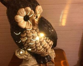 "21"" ceramic owl lamp.  It's awesome."
