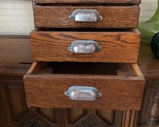 Antique oak cash drawers