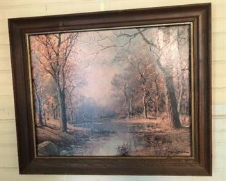 Lithograph of Robert Wood Autumn painting.